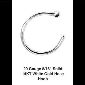 Jewelry - 14KT White Gold Nose Ring. PRICE SLASH!